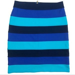 Lilly Pulitzer Blue Stripe Pencil Skirt Size XS